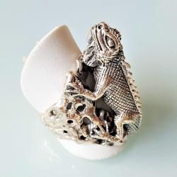 """Серебряное кольцо """"Ящерица"""""""
