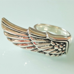 "Кольцо из серебра ""Крыло"""