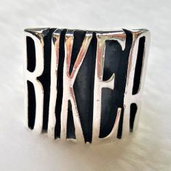 """Перстень из серебра """"Байкер"""""""