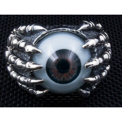 "Кольцо ""Глаз и Когти"" карий"