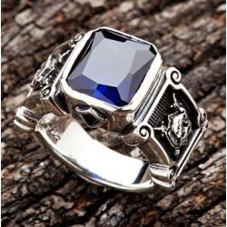 """Перстень """"Рыцарь"""" с сапфиром"""