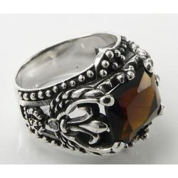 Перстень с раухтопазом