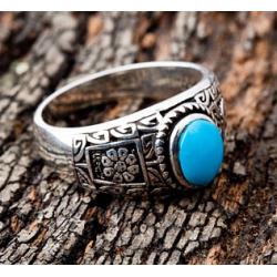 Мужское кольцо с бирюзой