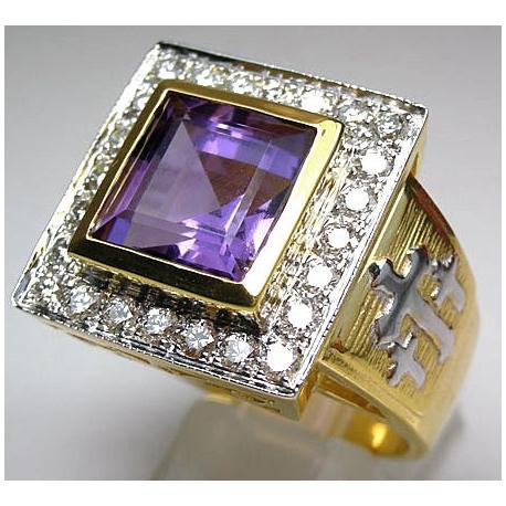 Христианское кольцо с аметистом