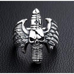 """Уникальное серебряное мужское кольцо """"Свеча зажигания"""""""