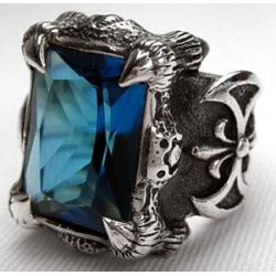 """Перстень """"Когти Дракона"""" с голубым топазом"""