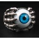 "Кольцо ""Глаз и Когти"" голубой"