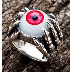 """Кольцо """"Глаз и Когти"""" красный"""