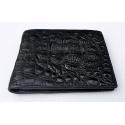 Черный бумажник из крокодила