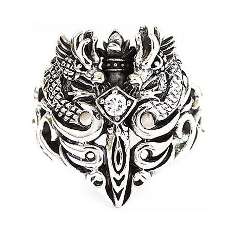 """Кольцо """"Дракон""""  с бриллиантом"""