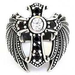 """Кольцо """"Крест с Крыльями"""""""