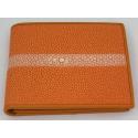 Оранжевый бумажник из ската
