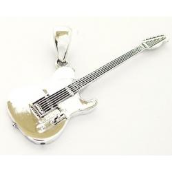 """Серебряная подвеска """"Гитара"""""""
