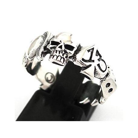Небольшое кольцо с черепом