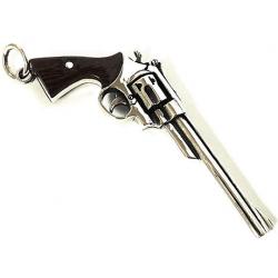 """Кулон из серебра """"Револьвер"""""""