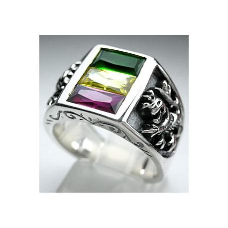 Перстень с камнями и львом