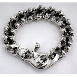 """Шикарный браслет """"Черепа с бриллиантами"""""""