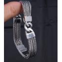 Плетенный браслет со звеньями