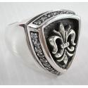 Кольцо геральдическая лилия с бриллиантами