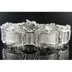 Серебряный браслет с бриллиантами