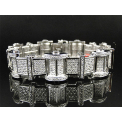 Мужской браслет с бриллиантами