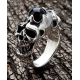 Мужское кольцо с черепами и ониксом