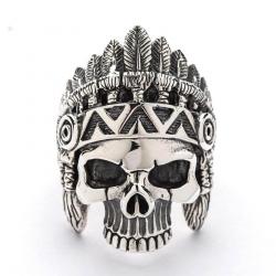 "Кольцо серебряное ""Индеец"""