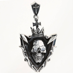 Мужской Брутальный Серебряный Кулон с Черепом