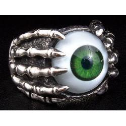 """Кольцо """"Глаз и Когти"""" зеленый"""