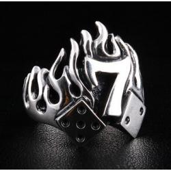 """Перстень """"Огненная Семерка"""" серебряный"""