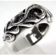 Кольцо серебряное с узорами