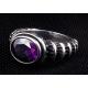 Готическое кольцо с аметистом