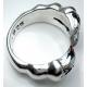 """Готическое кольцо """"Когти"""" с сапфиром"""
