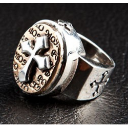 """Дизайнерское кольцо """"Крест"""""""