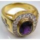 Перстень с аметистом