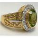 Перстень с перидотом