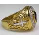 Золотой перстень с аметистом