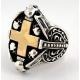 """Кольцо """"Крест с черепами"""""""