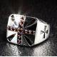 """Кольцо """"Гранатовый Крест"""" Серебро"""