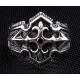 "Кольцо ""Рыцарский крест"" с гранатом"
