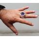 Массивный крупный мужской перстень с аметистом