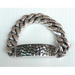 Мужской серебряный браслет с пластиной