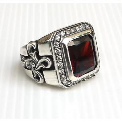 Перстень с Гранатом и Крестами