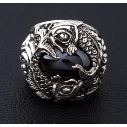 Мужское кольцо с карпами кои