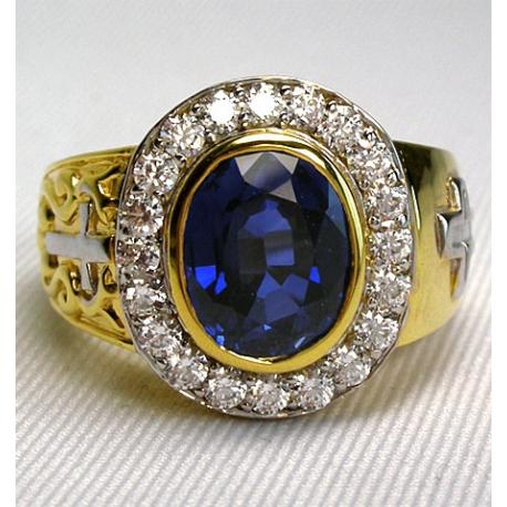 Перстень с сапфиром и бриллантами