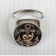 Перстень якорь с сердцем