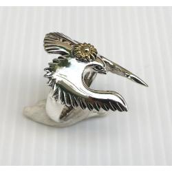 """Серебряное кольцо с птицей """"Орел"""""""