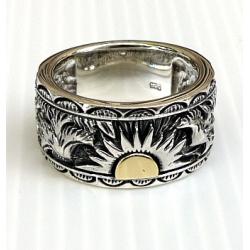 """Серебряное кольцо """"Солнце"""""""