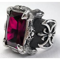 """Перстень """"Когти Дракона"""" с красным рубином"""