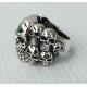 Брутальный перстень с черепами